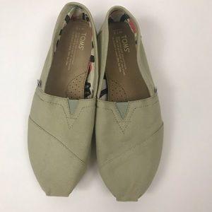 Toms Light Green Slip on Shoes